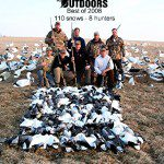 When the UT boys roll into town it is a sure sign the snow goose hunting is going to pick up. Here they have the high field for the year with 110 snow geese.