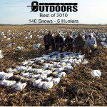 "A screwy end to a screwy season...the last day we hunted in Missouri. The skies opened up and we shot 140 birds. The next day it snowed 10-12"". The weather was very cruel to us on our 2010 snow goose hunts."