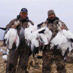 Up North Outdoors guide Jim Weston (left) and Billy Martin. These two guys are hard to keep out of the field.