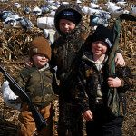 Guides Adam and BJ take their boys out for an afternoon hunt.