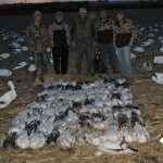 These 4 hunters started a day earlier than the rest of their party and the snow geese cooperated.