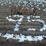 Strong push from the south on this Missouri snow goose hunt.