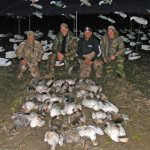 First day of our guided snow goose hunts in Arkansas.